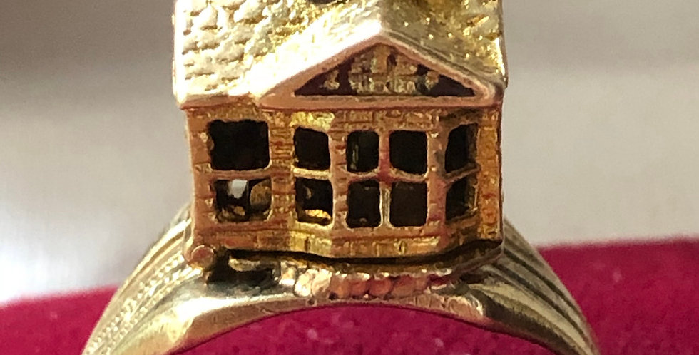 9ct gold Opening house ring
