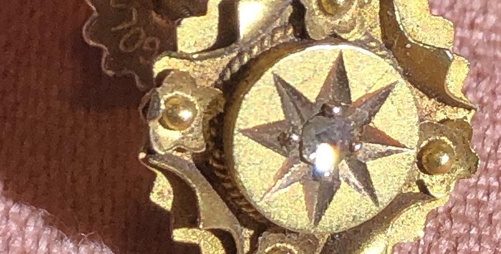 15ct gold Victorian stud with diamond