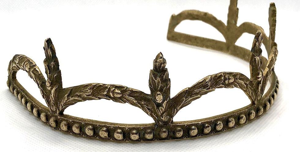 Victorian brass tiara