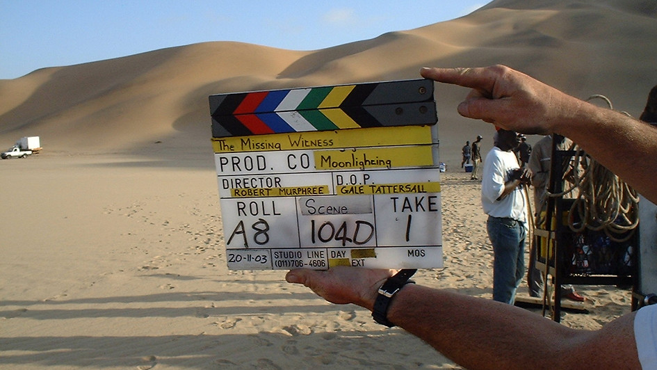 On location in Namibia