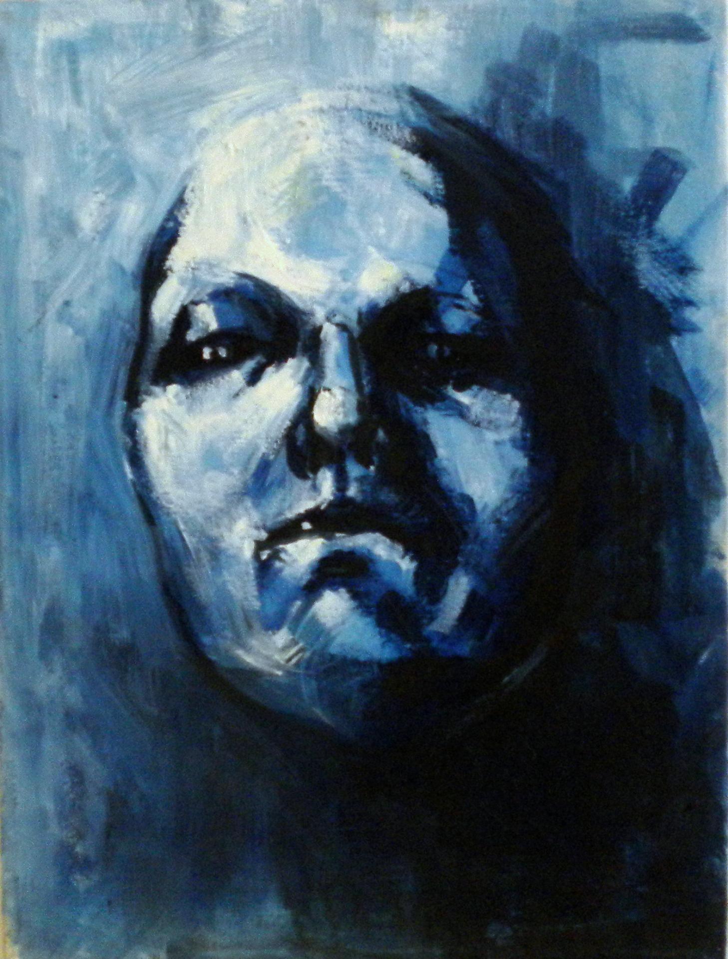 Maschera blu- Blu mask