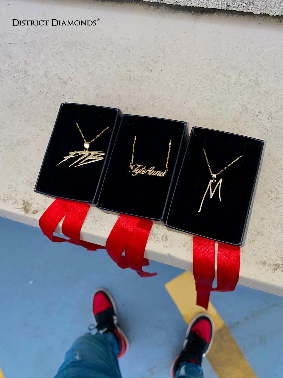 Custom 10k Gold Necklaces