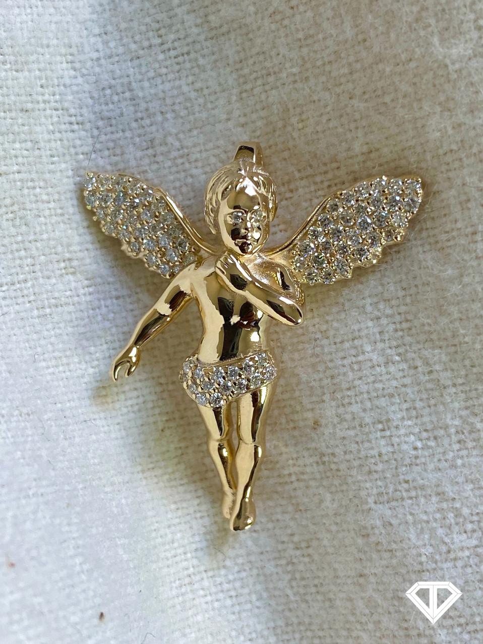 VVS Custom 10k Angel Pendant