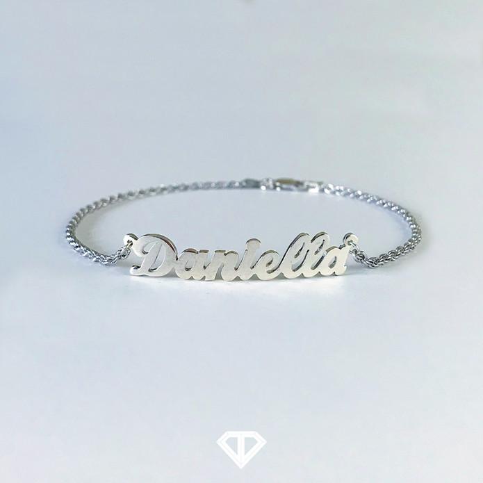 """10k """"Daniella"""" Name Anklet"""