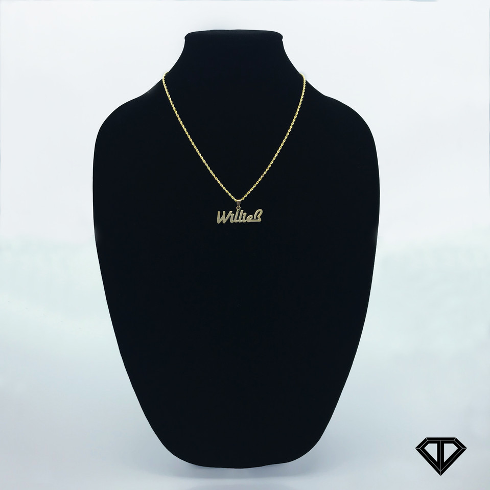"10k ""Willie B"" Name Chain"