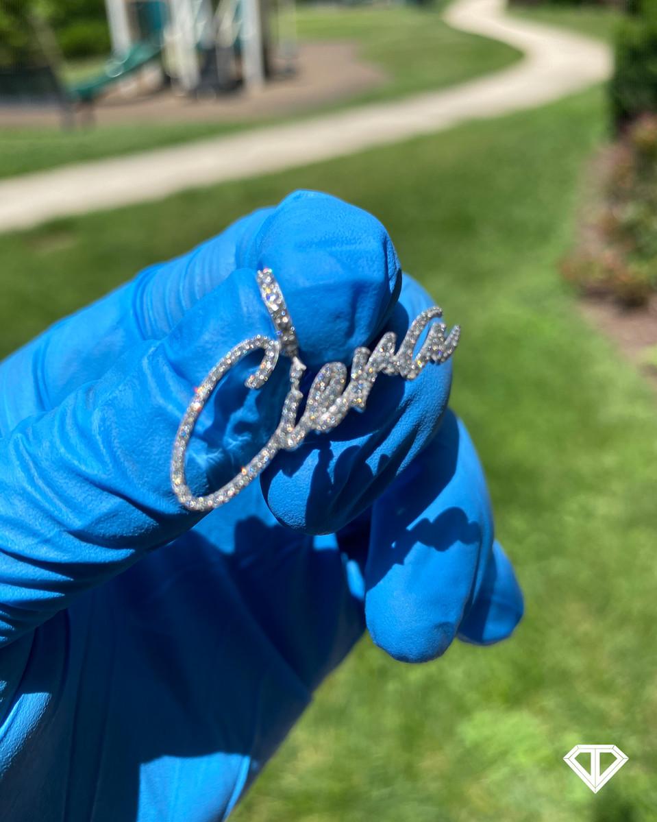 """VVS Custom Silver (.925) """"Ciera"""" Name Necklace"""