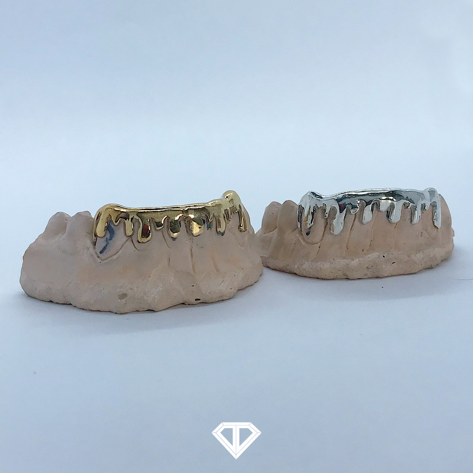 10k Yellow Gold & Silver (.925) Drip Sets