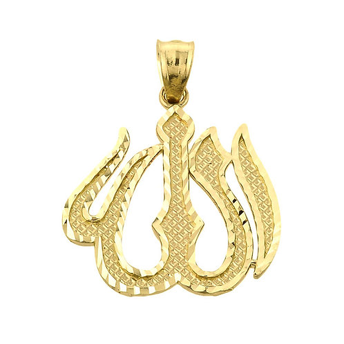 Allah Arabic Diamond Cut Pendant