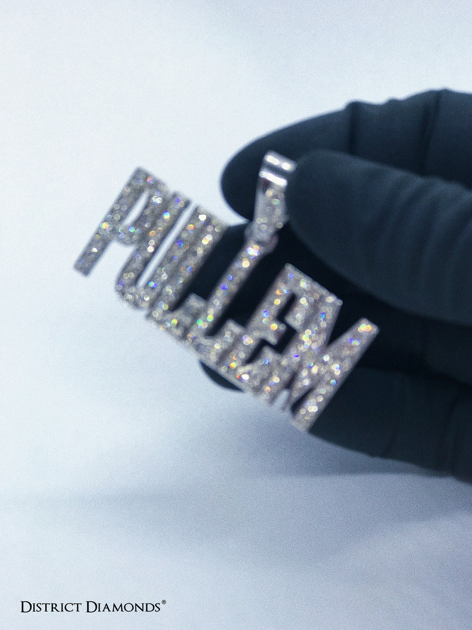 Custom Diamond Pendant in Silver (.925)