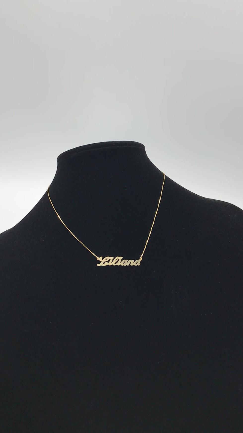 "10k ""Liliana"" Name Necklace"