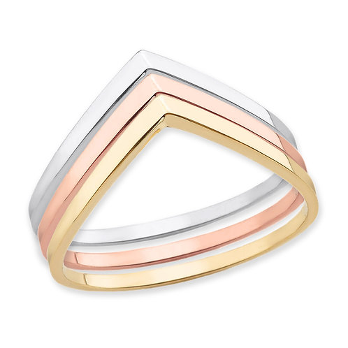 Stackable V-Shaped Rings