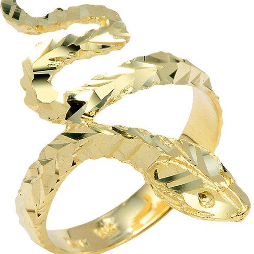 Snake Ring Diamond Cut