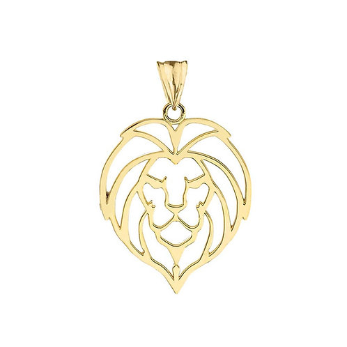 Lion Head Cut-Out Pendant