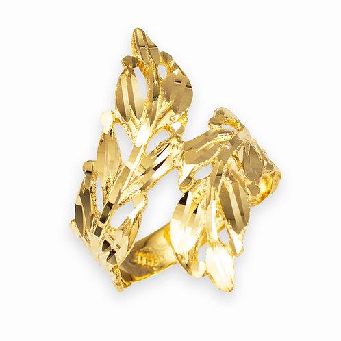 Laurel Wreath Ring Diamond Cut