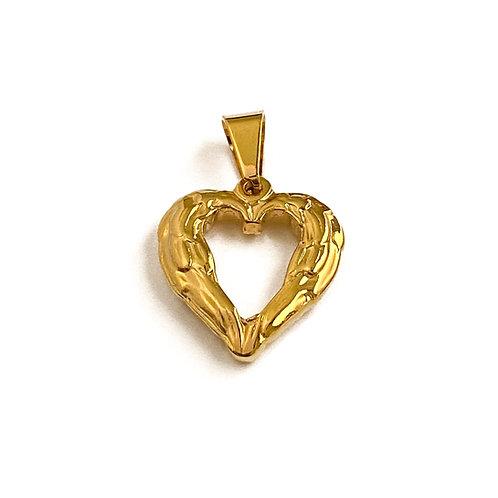 Winged Heart Charm
