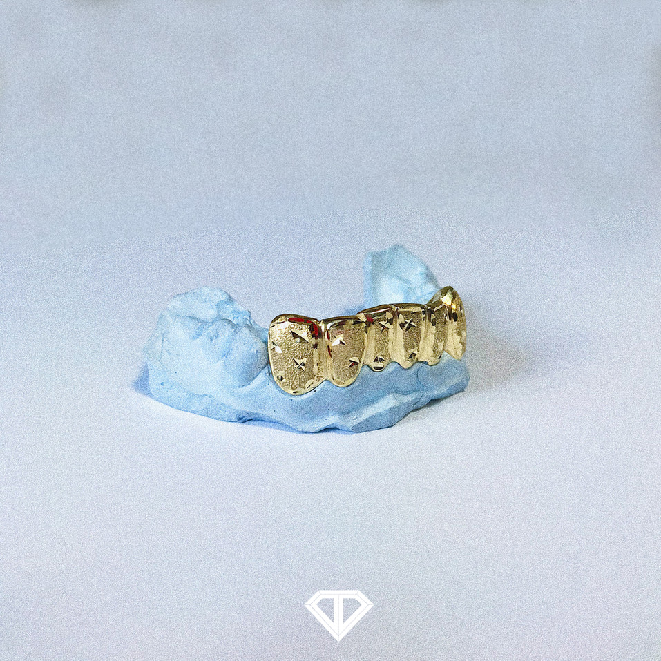 10k Yellow Gold - Diamond Dust