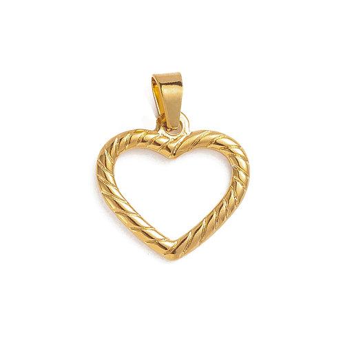 Twisted Heart Charm