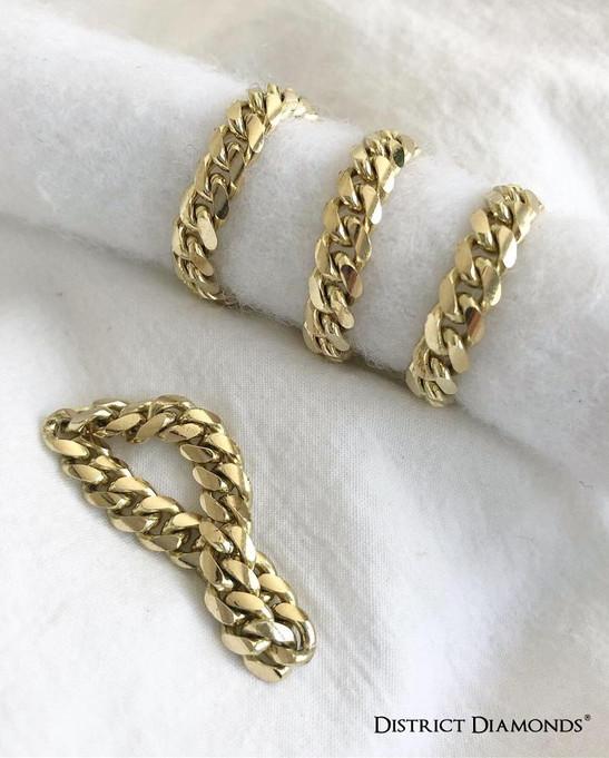 Solid Cuban Rings & Bracelet
