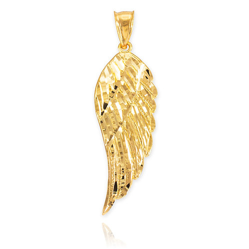 Wing Diamond Cut Pendant