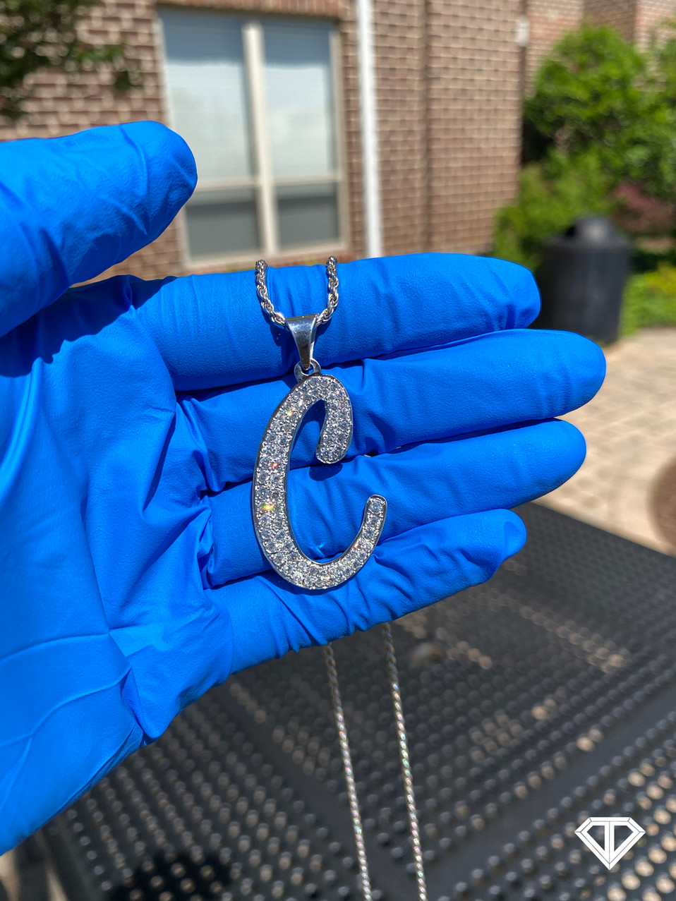 "SI1 Custom Silver ""C"" Pendant"