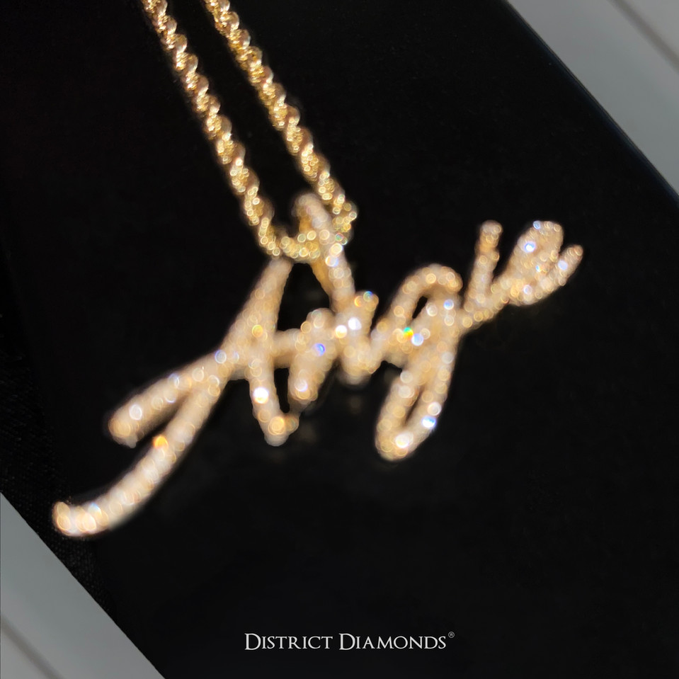 "SI Custom 10k ""Angie"" Name Necklace"