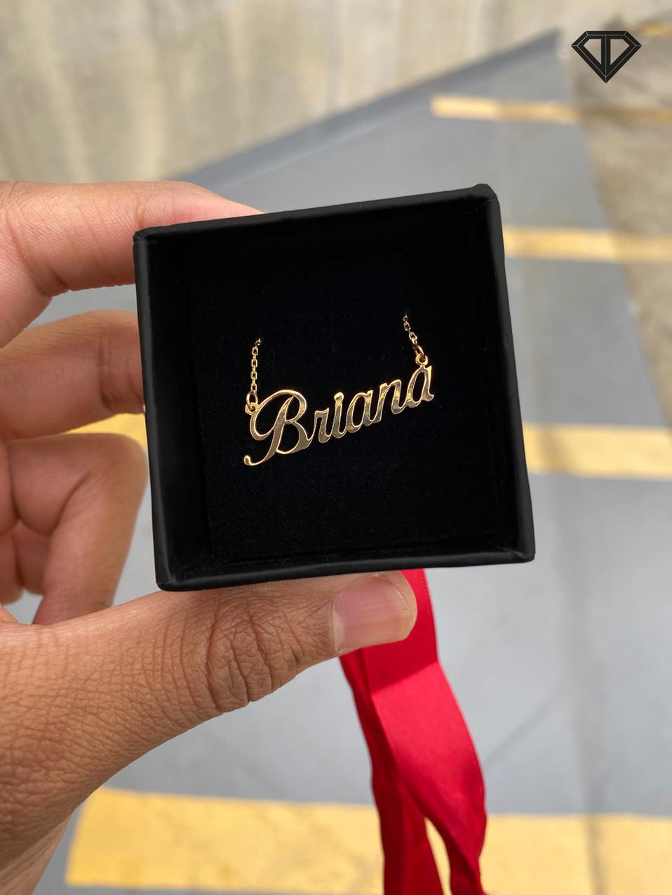 "10k ""Briana"" Name Necklace"