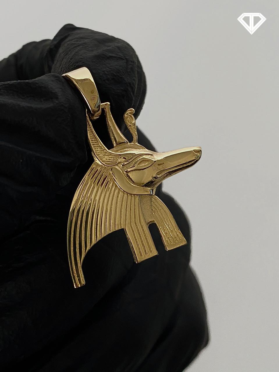 14k Custom Anubis Head Charm