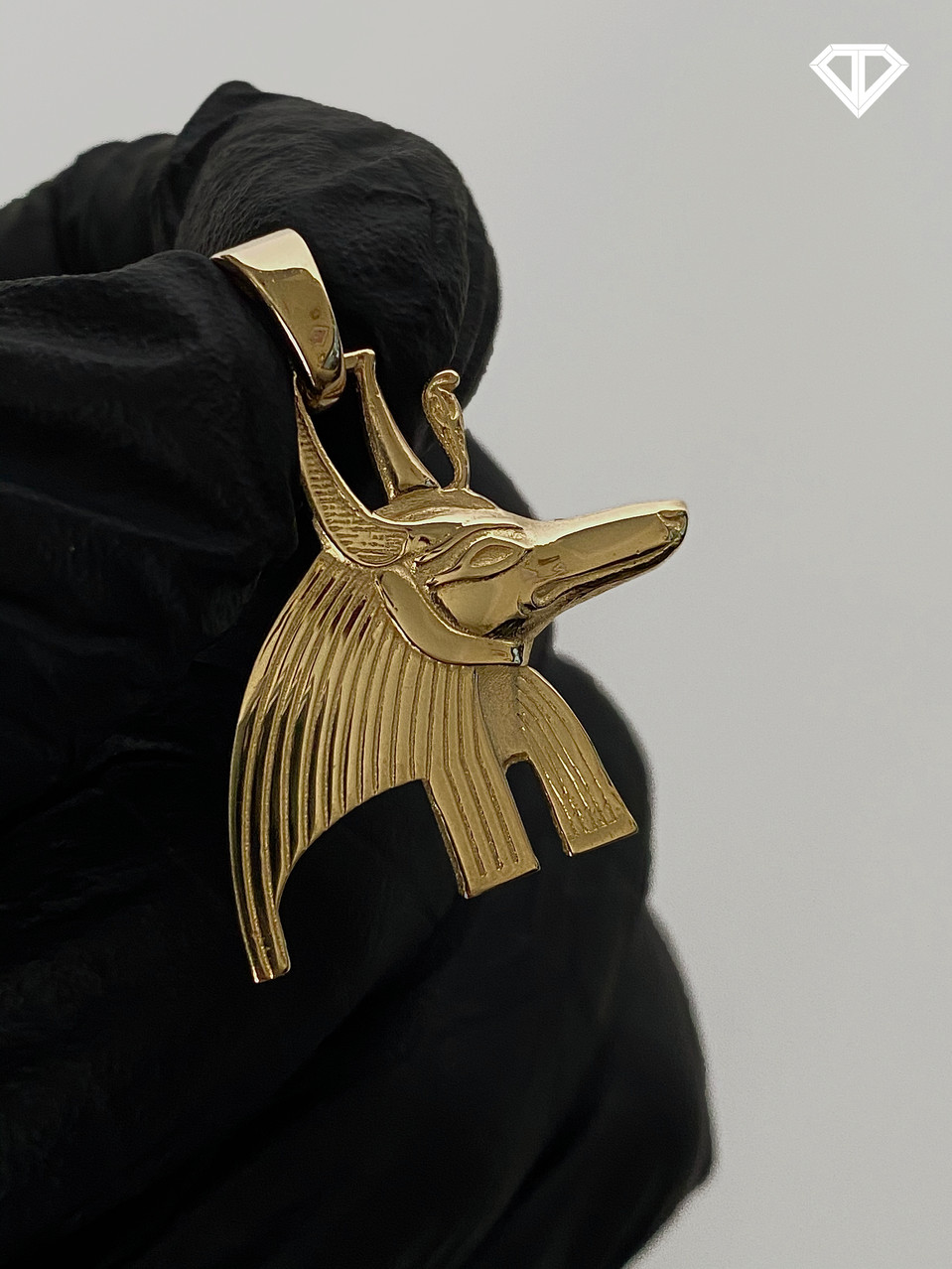 14k Custom Anubis Head Charm