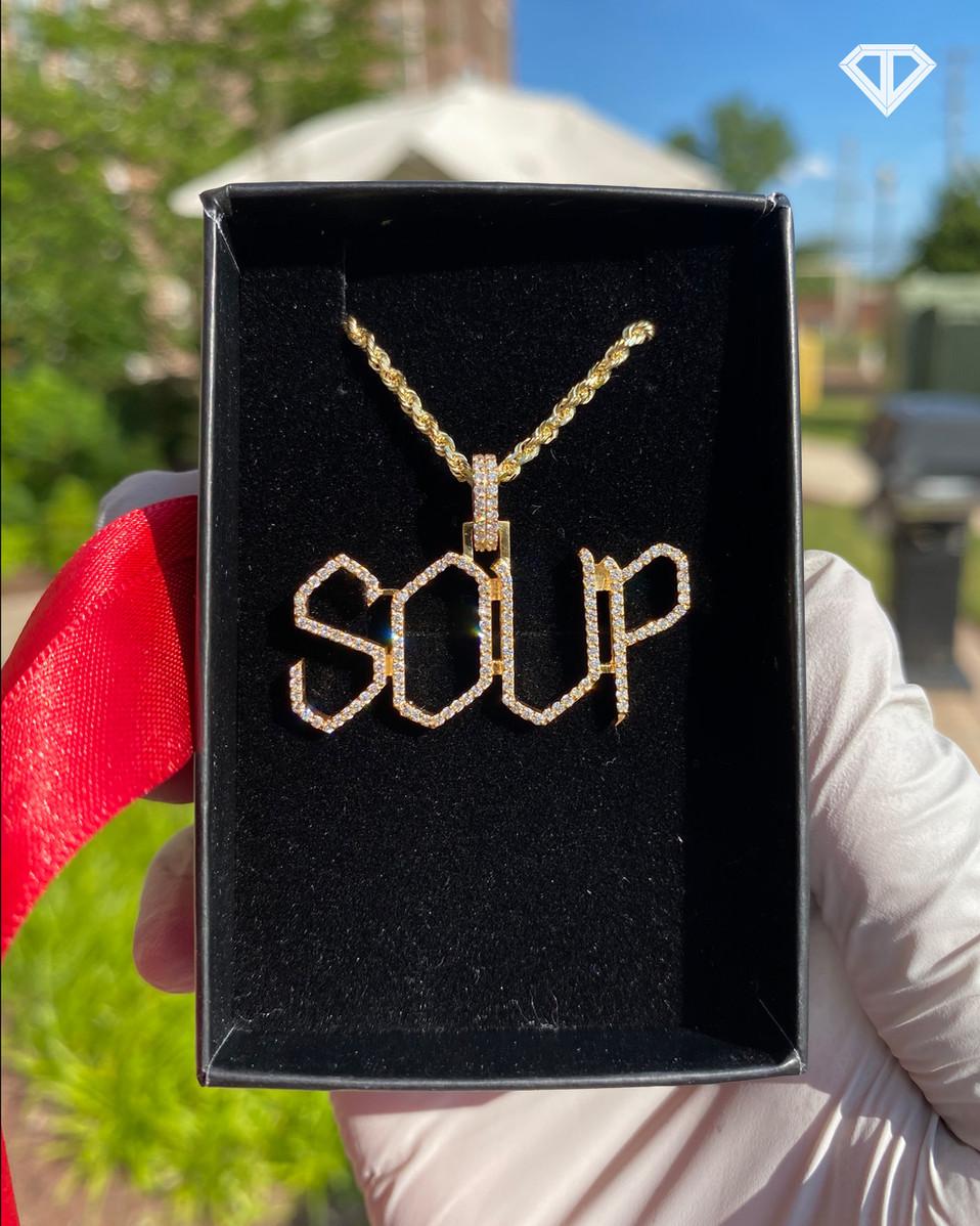 "VVS Custom 10k ""SOUP"" Pendant"