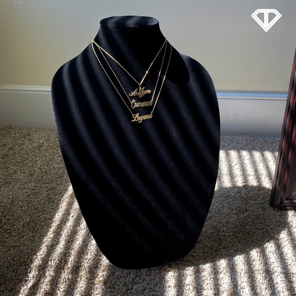 Custom Stacked Name Necklaces