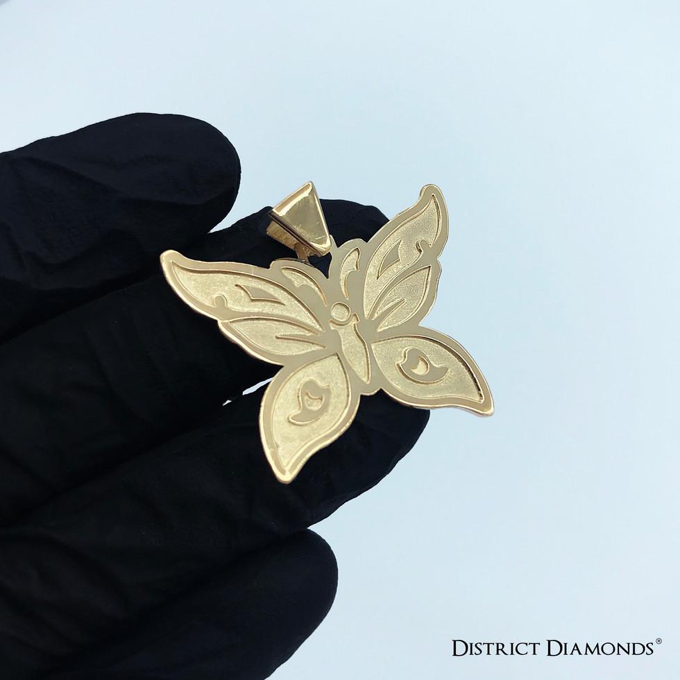 Custom 10k Butterfly Charm