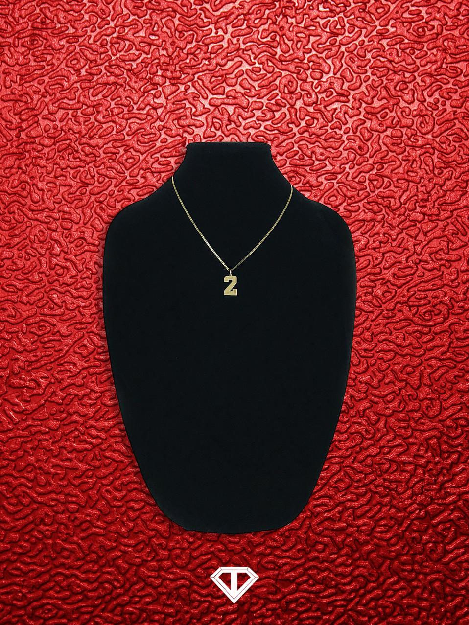 """10k """"2"""" Necklace"""