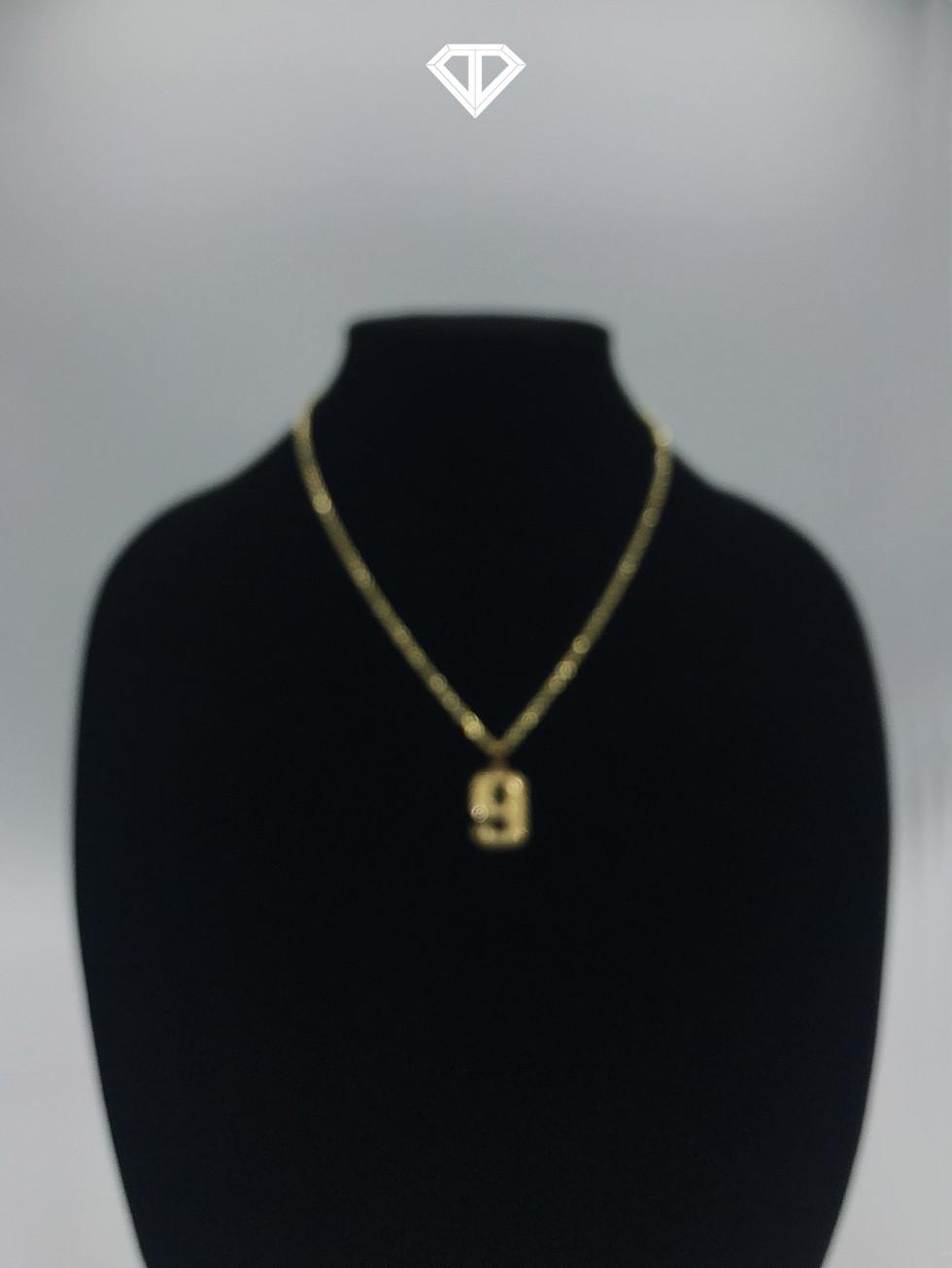 """10k """"9"""" Necklace"""