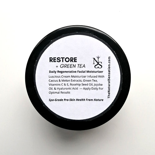 Restore + Green Tea (Daily Regenerative Facial Moisturizer)