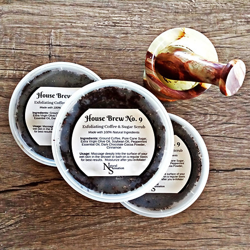 House Brew No. 9 Exfoliating Coffee & Sugar Scrub