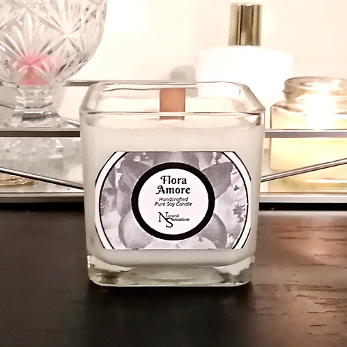 Flora Amore Wooden Wick Candle
