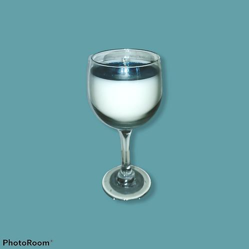 Ocean Wave Wine-Class Stemware Candle