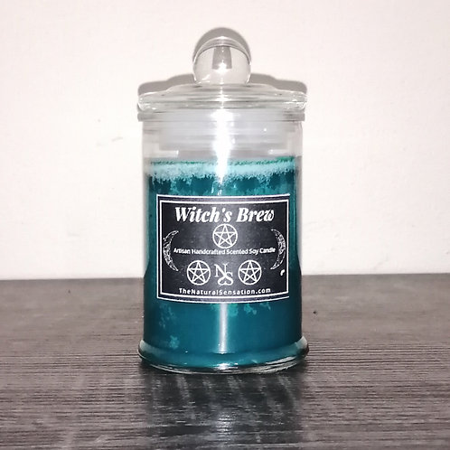 Witch's Brew Glass Jar Candle With Lid