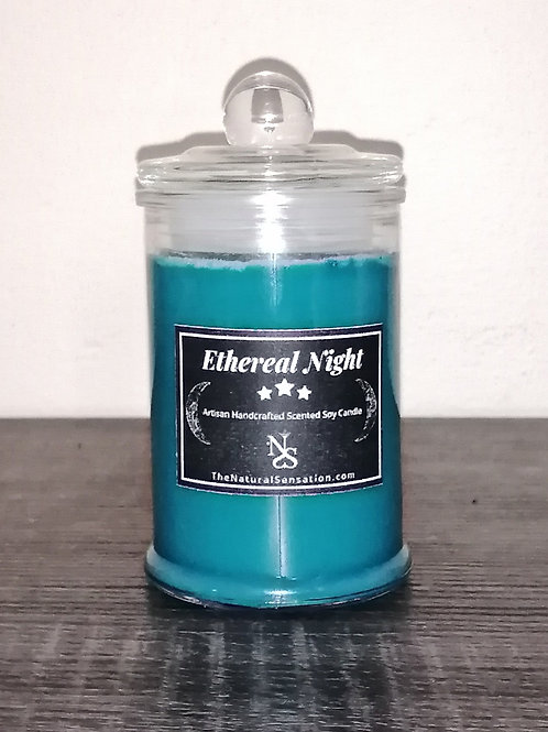 Ethereal Night Glass Jar Candle With Lid