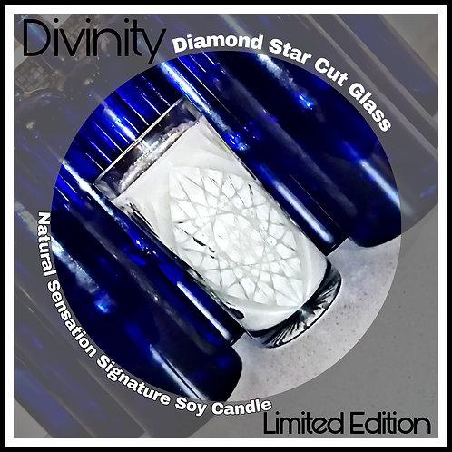 Divinity: Tall Diamond Crystal Cut Sparkle Candle