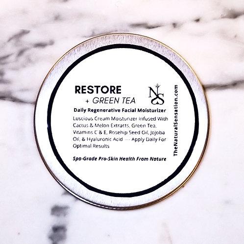 Restore + Green Tea (Daily Regenerative Facial Moisturizer)