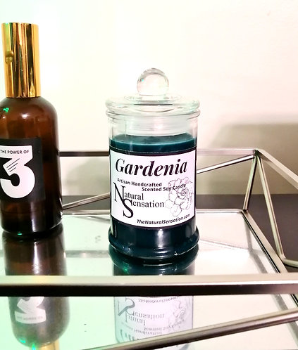 Gardenia Glass Jar Candle With Lid