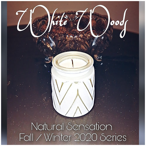White Woods Deco-Style Candle