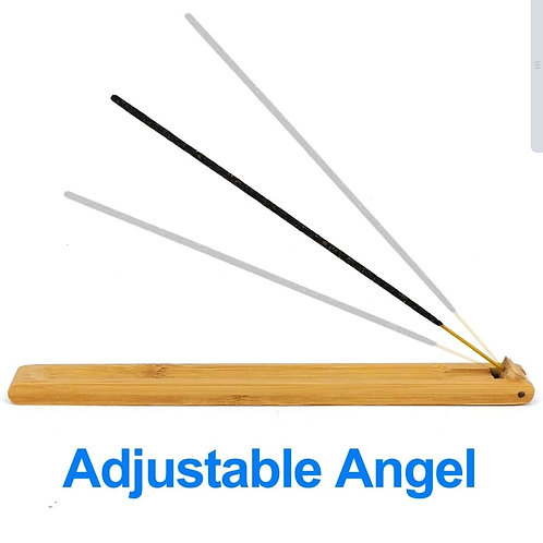 Bamboo Wood Incense Stick Holder with Adjustable Angle