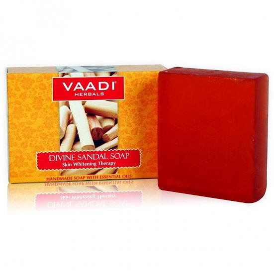 МЫЛО БОЖЕСТВЕННОЕ С САНДАЛОМ И КУРКУМОЙ (Divine Sandal Soap) Vaadi Herbals, 75 г