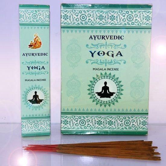 БЛАГОВОНИЯ МАСАЛА СВЕТЛЫЕ С ПЫЛЬЦОЙ Йога (Yoga), AYURVEDIC