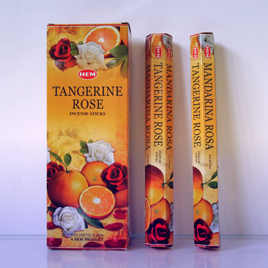 Благовония Мандарин с Розой (Tangerine Rose) HEM