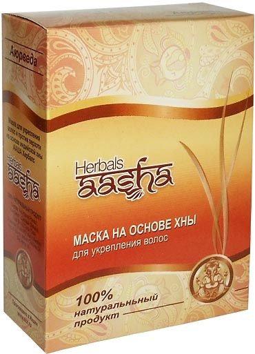 Маска на основе хны для укрепления волос Herbals AASHA