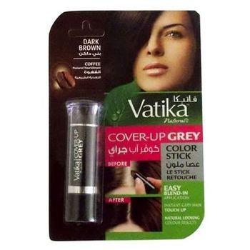 Подкрашивающий карандаш для волос VATIKA BROWN (коричневый) для женщин, 4 гр.
