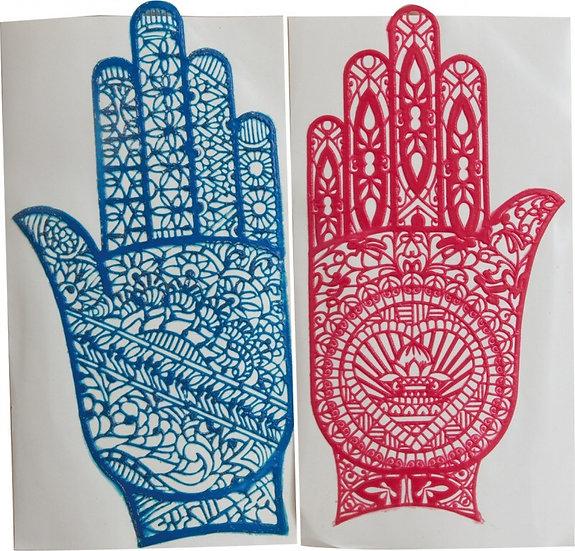 Трафарет для михенди рука